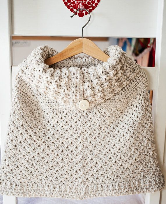 Crochet Patterns Pdf Free Download : Instant download - Crochet PATTERN (pdf file) - Poncho with oversized ...