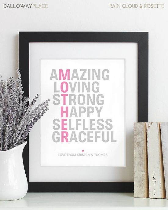 Mother of the Bride Gift for Mom Gift, Thank You Mom Gift From Kids Mom Birthday Gift Mothers Day Gift for Her New Mom Gift Art Print 8x10. $19.00, via Etsy.