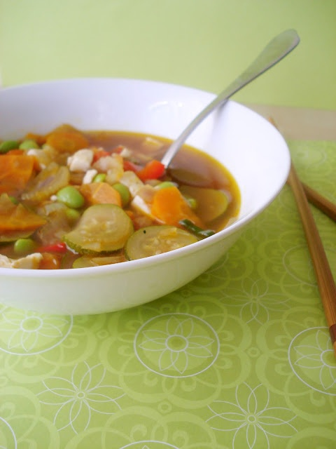 Edamame Vegetable Soup with Wasabi Cream | & it's healthy for you too...