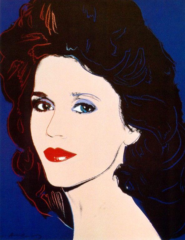 Jane Fonda - Andy Warhol ~~ For more:  - ✯ http://www.pinterest.com/PinFantasy/arte-~-pintura-pop-art/
