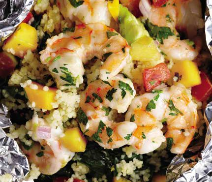 Shrimp With Avocado-Mango Salsa In addition to being a great source of ...