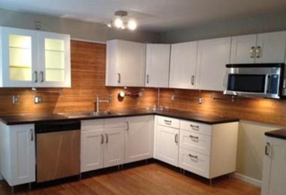 wood backsplash for the home pinterest