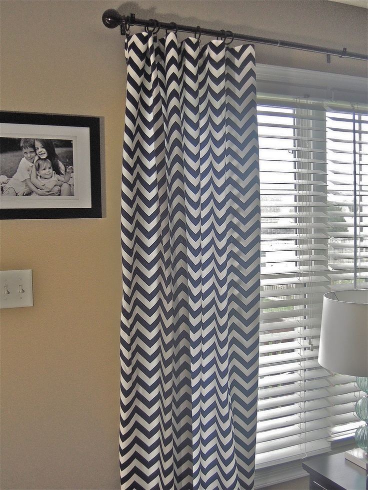 navy and white chevron curtains 4 5