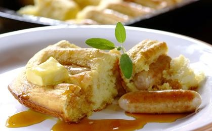 Easy breakfast bake with sausages