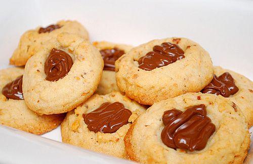 Nutella Thumbprints | Nutella Cookies | Pinterest