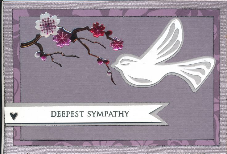 Sympathy card | Paper Crafting & Cricut Projects | Pinterest
