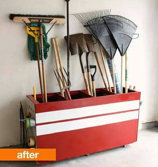 Cabinet Tool Storage Ideas