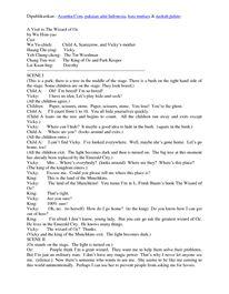 Drama Bahasa Inggris Kumpulan naskah pidato bahasa inggris singkat