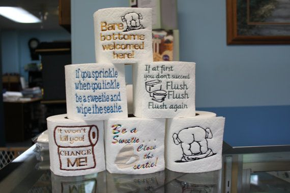 Toilet paper sayings or images filled machine embroidery file toile