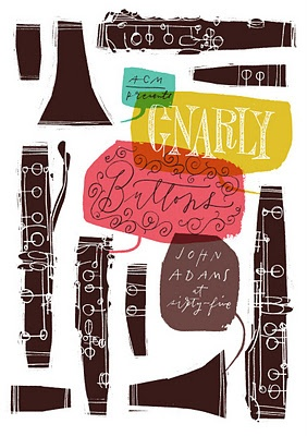 Gnarly Buttons poster by Anne Benjamin