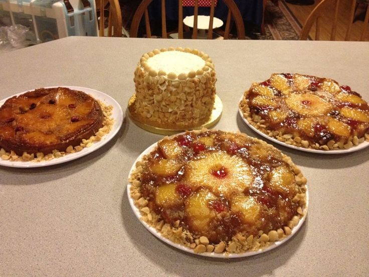 Luau bridal party and we enjoyed these pineapple upside down cakes ...