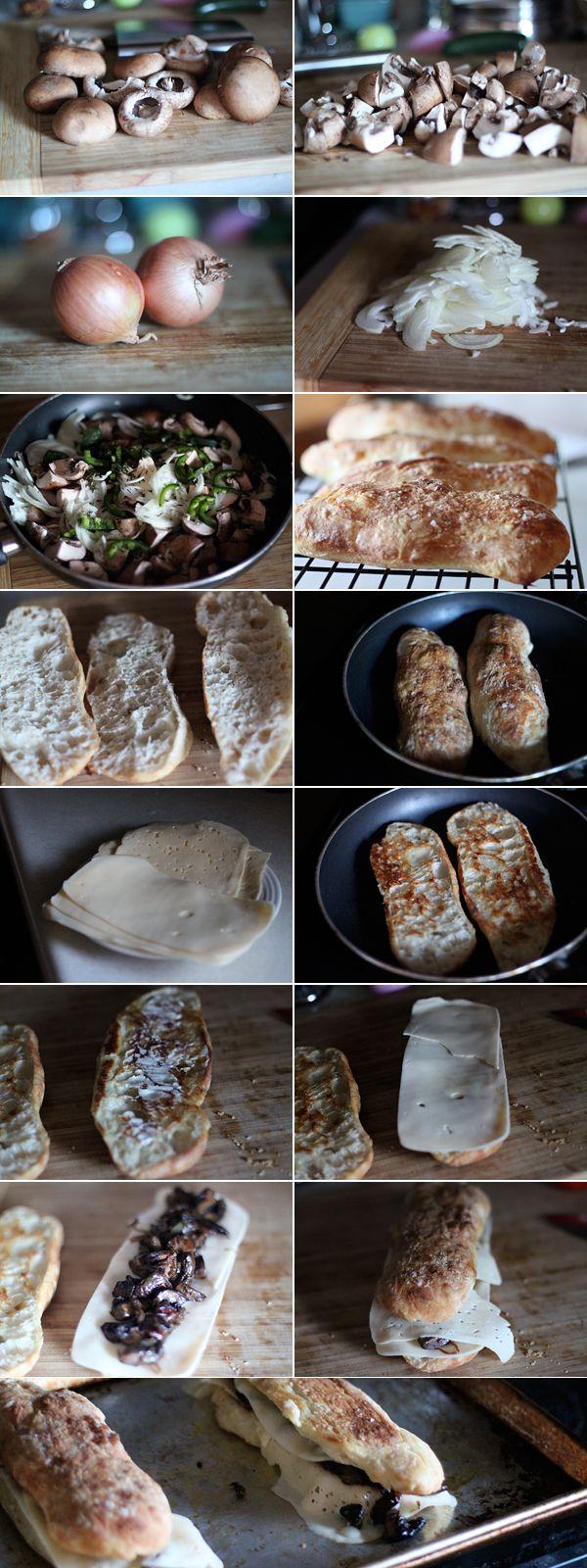 Wild Mushroom Melt Panini Recipe — Dishmaps