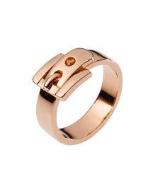 Michael Kors Buckle Ring, Rose Golden