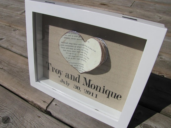 Wedding Gift Shadow Box : DIY wedding gift - shadow box frame wedding-gifts