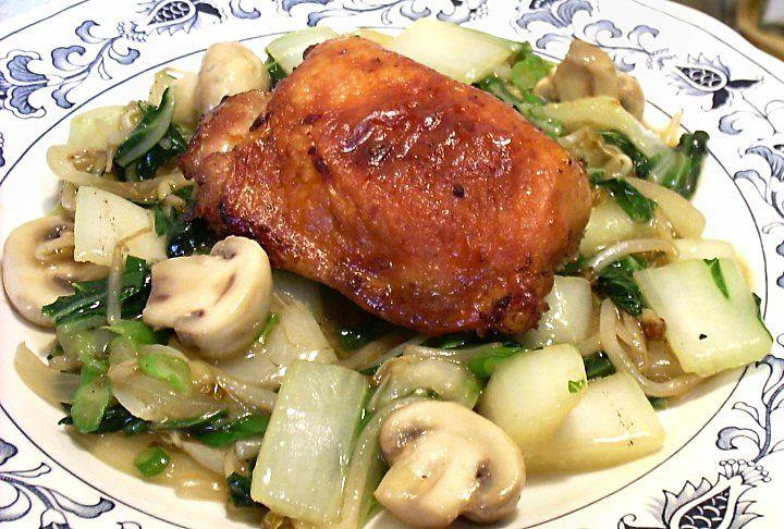 Chicken Bok Choy Mushroom Stirfry | Lite Breakfast, Lunch & Dinner Me ...