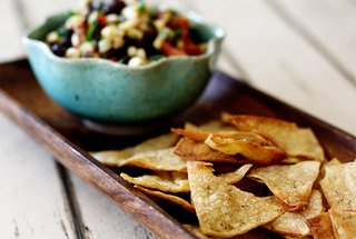 Baked Cumin Chipotle Lime Tortilla chips | Recipes | Pinterest