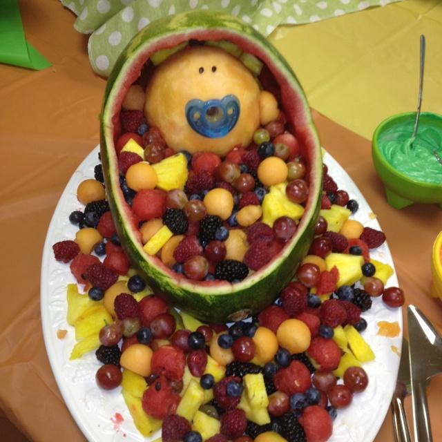 baby shower fruit basket carson pinterest