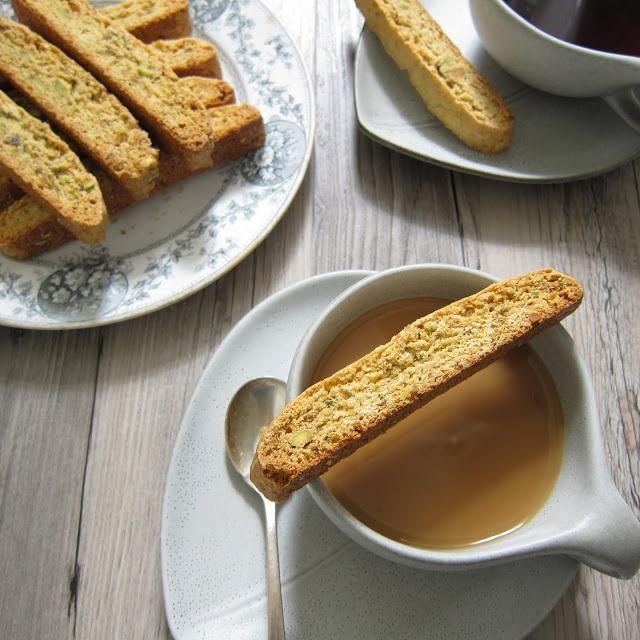 Meyer Lemon Pistachio Biscotti | Cookies | Pinterest