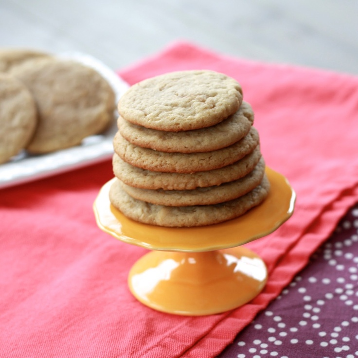 Brown sugar cookies (also I need that adorable little stand)