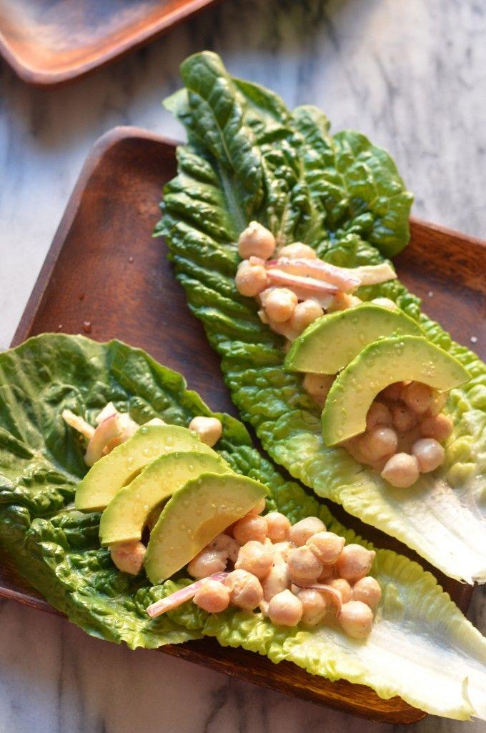 Chickpea Caesar Salad Wraps   Vegan   Pinterest