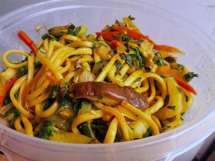Vegan Udon Noodle Stir-Fry | Vegan Indian + Asian Inspired | Pinterest