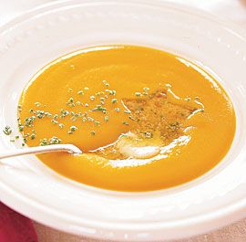 BUTTERNUT SQUASH AND LEEK SOUP WITH HERB BUTTER http://www.finecooking ...