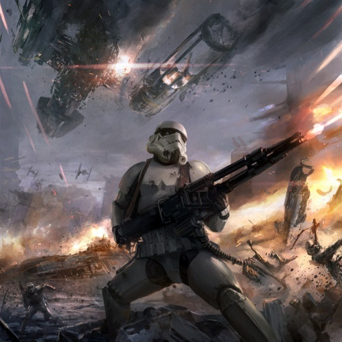 Stormtrooper in Battle | Illustrations - Star Wars | Pinterest
