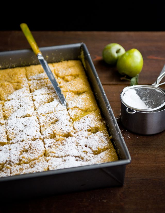 Cornmeal Olive Oil Cake with Ugly Green Plums #recipe #tastes #treats ...
