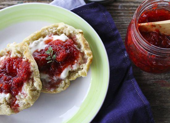 Strawberry Balsamic Thyme Freezer Jam | Recipe