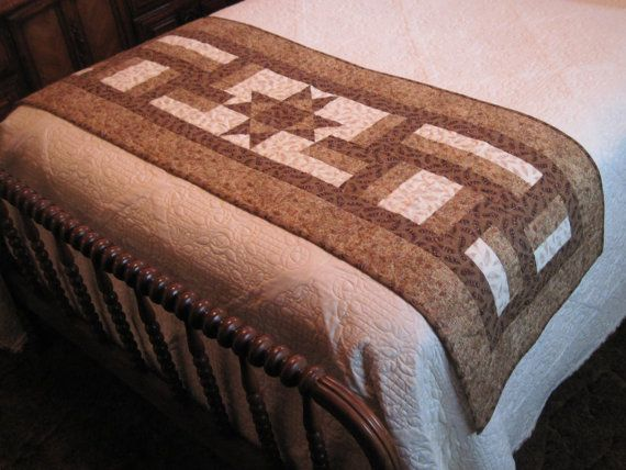 Quilt pattern fence rails bed runner for Bed quilting designs