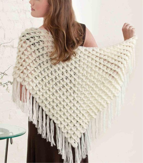 Crochet Triangle Shawl Patterns For Beginners : Crocodile Triangle Shawl Crochet Pattern - Handmade ...