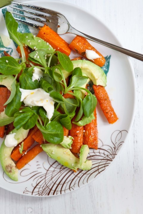 Roasted carrot and avocado salad | Salads | Pinterest