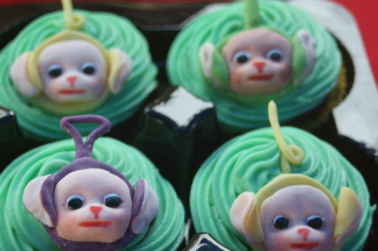 Teletubby cupcakes