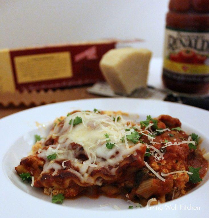 Crock-Pot Vegetable Lasagna from Living Well Kitchen Blog - under 400 ...