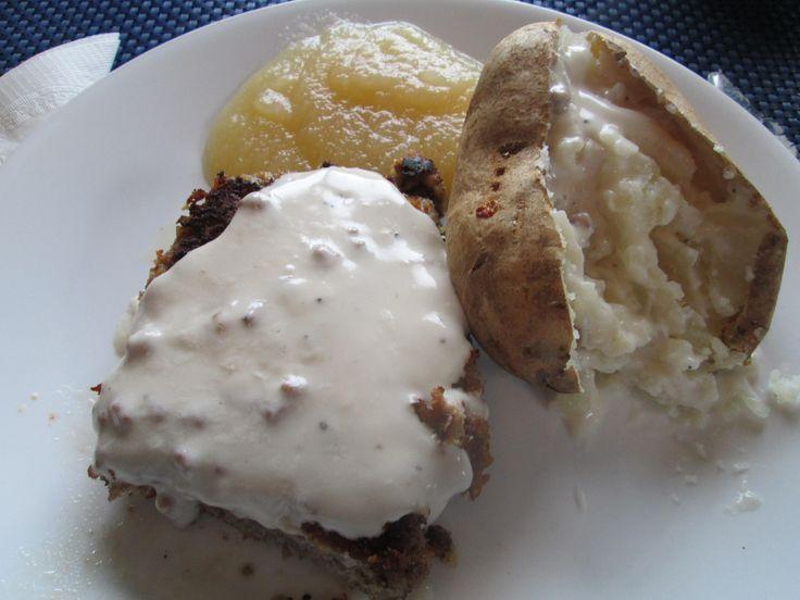 Chicken-Fried Steak (Chicken With Creamy Gravy)   Recipe