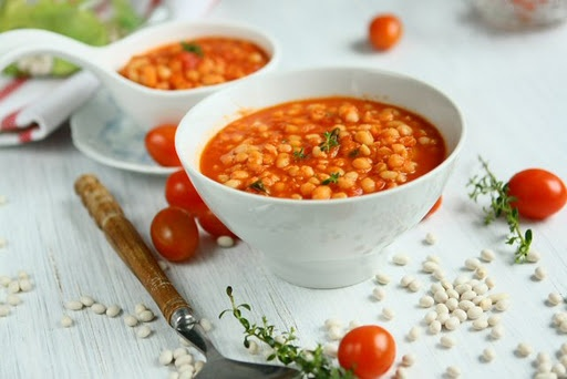 Stewed White Beans with Tomatoes and Winter Savory