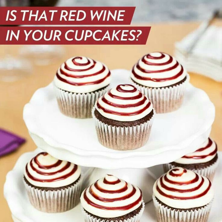 Red wine cream cheese cupcakes | Cake and cupcake ideas | Pinterest