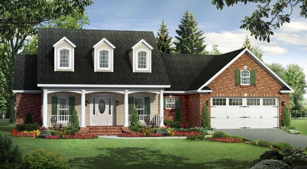 Country Farmhouse Southern Traditional House Plan 59191