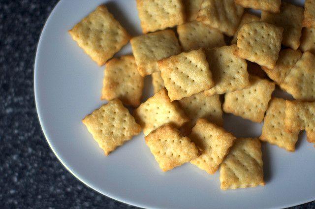 Parmesan crackers | Cuisine | Pinterest