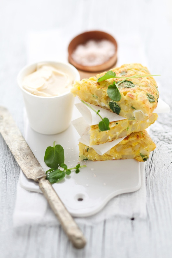 Potato, Parsnip And Watercress Spanish Tortilla Recipe — Dishmaps