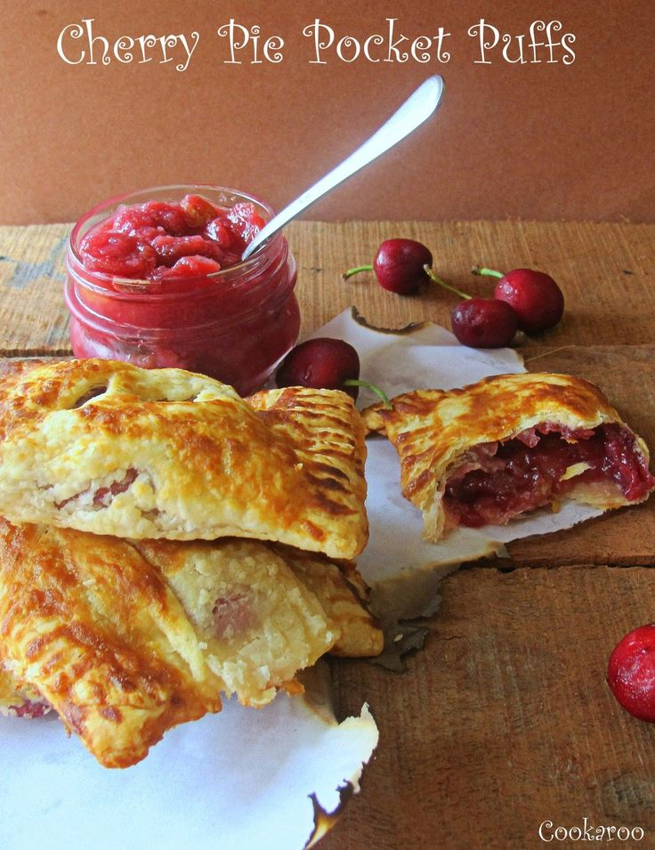 Cherry Pie Pocket Puffs (Puff Pastry) | Pastries-Sweet | Pinterest