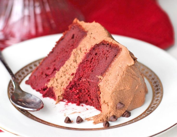 Healthy Vegan Red Velvet Cake with Chocolate Frosting - amazing recipe ...