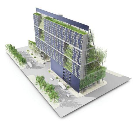 Urban vertical garden shipping container flower and for Vertical garden containers