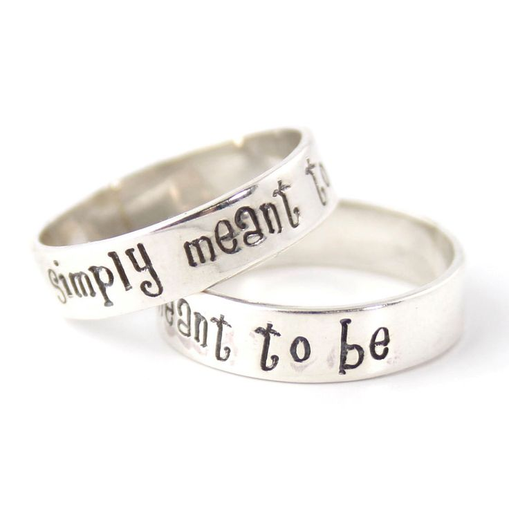 Nightmare Before Christmas Rings - Simply Meant to Be - Pair of Solid ...