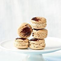 Coffee Chicory Macarons by Tartelette Blog