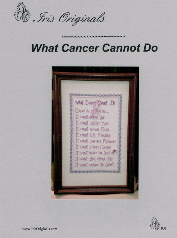 Site what cancer cannot do poem find the graph at irisoriginals com