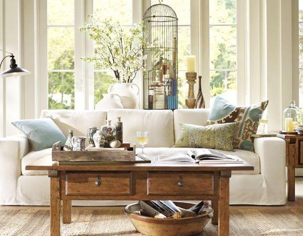 Pottery Barn Living Room Inspiration Salon Pinterest