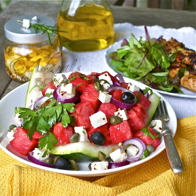 ADORA's Box: WATERMELON AND MARINATED FETA SALAD.