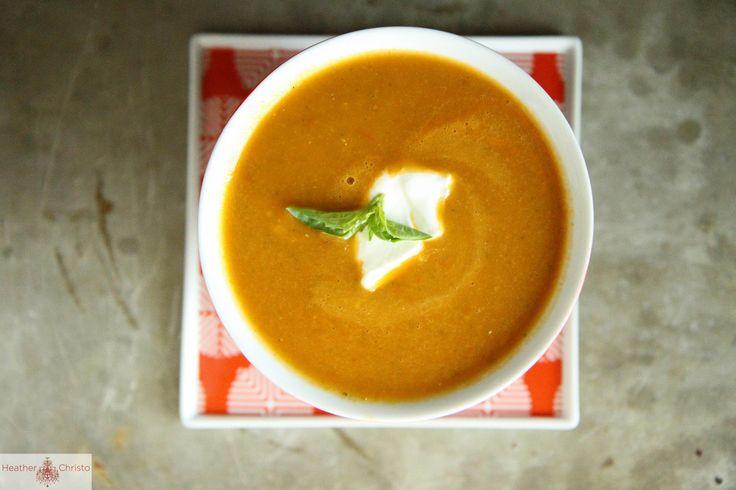 Recipe: Tomato Zucchini Soup | Heather Christo