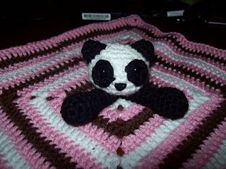 BABY PANDA BEAR CROCHET PATTERN GRAPH AFGHAN BLANKET THROW